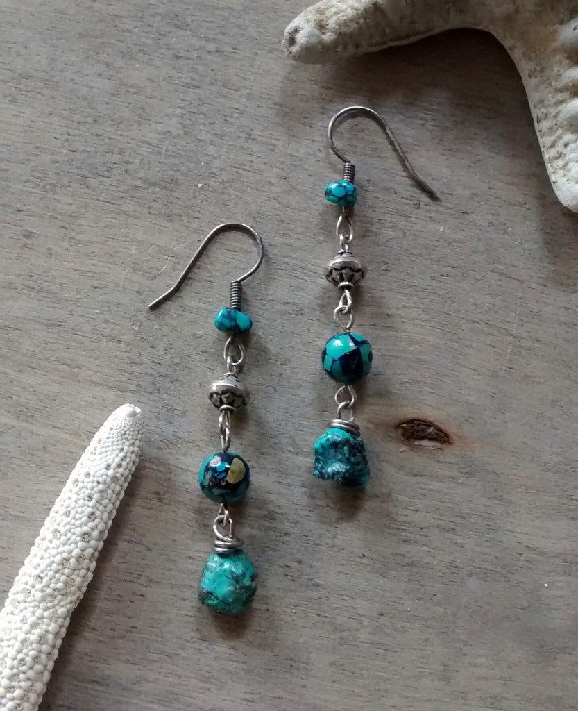 Mosaic Turquoise Earrings