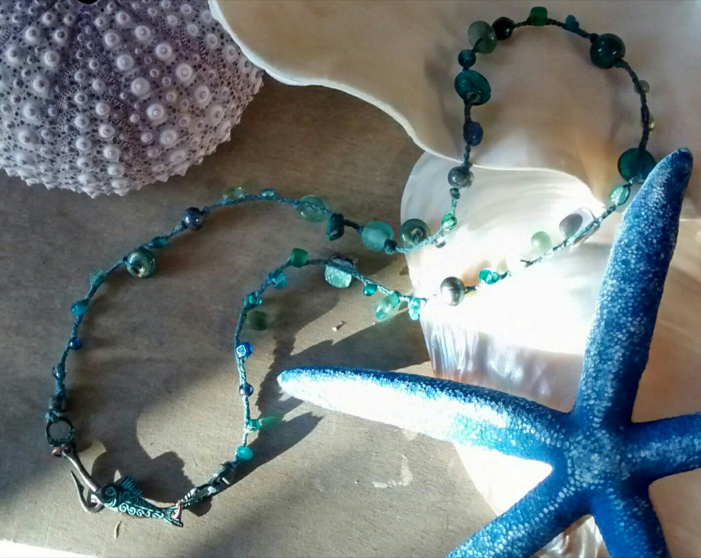 Fish Hook Sea Necklace