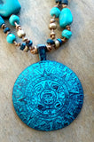 Ocean Glass Aztec Necklace
