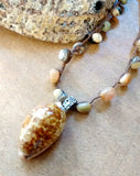 Cowrie Abalone Necklace