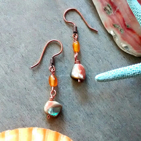 Abalone Sunset Earrings