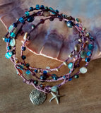 Abalone Necklace Wrap