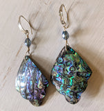 Abalone Feather Earrings