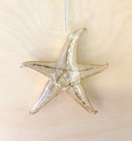 Gold Crystal Starfish Ornament