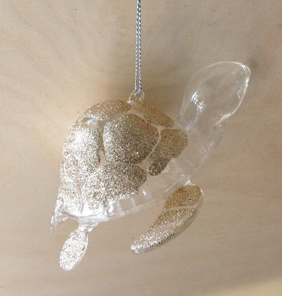 Gold Crystal Turtle Ornament