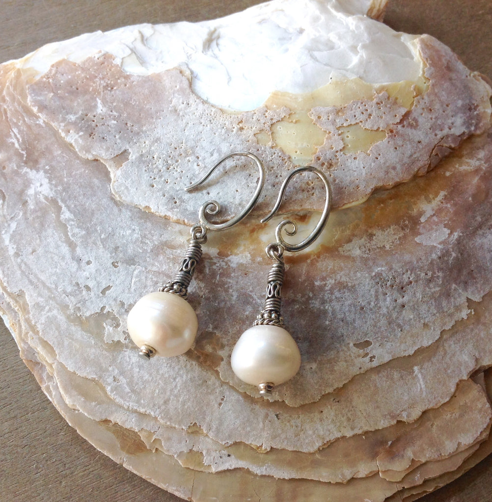 Ocean Goddess Pearl Earrings