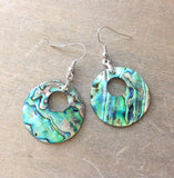 Abalone Donut Earrings