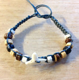 Shark Tooth Coconut Bead Bracelet