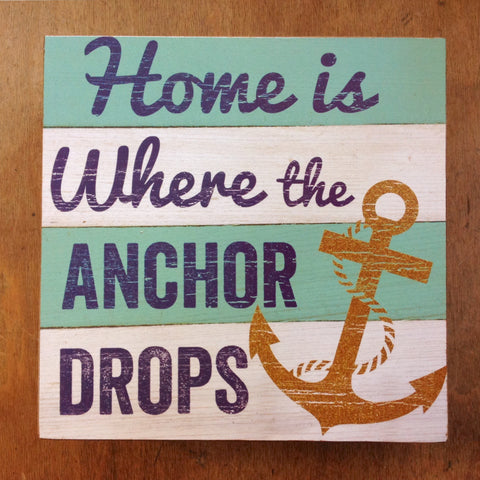 Anchor Drops Box Sign