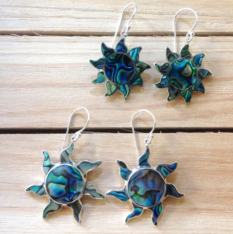 Abalone Sun Earrings