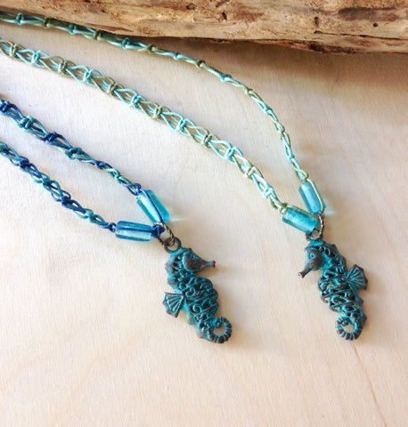 Braided Seahorse Necklace