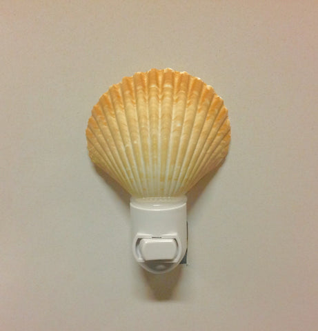 Golden Scallop Shell Nightlight