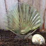 Green Scallop Shell Plate