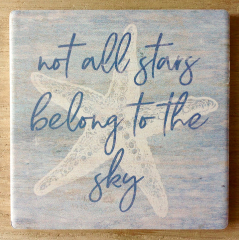 Belong The Sky Starfish Coaster