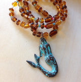 Mermaid Pendant Beaded Necklaces
