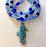 Seahorse Pendant Beaded Necklaces
