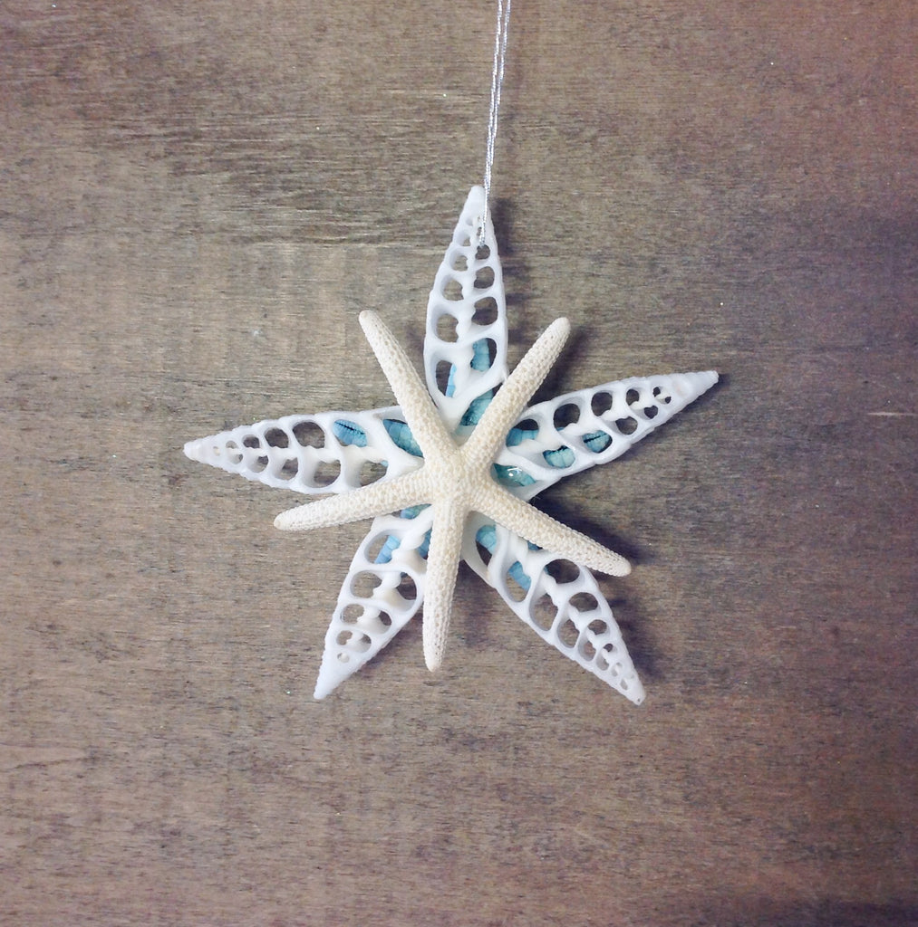 Bumpy Blue Star Ornament