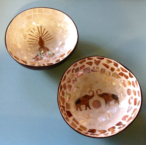 Mother of Pearl Orient Coconut Bowl
