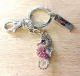 Jeweled Sealife Keychain
