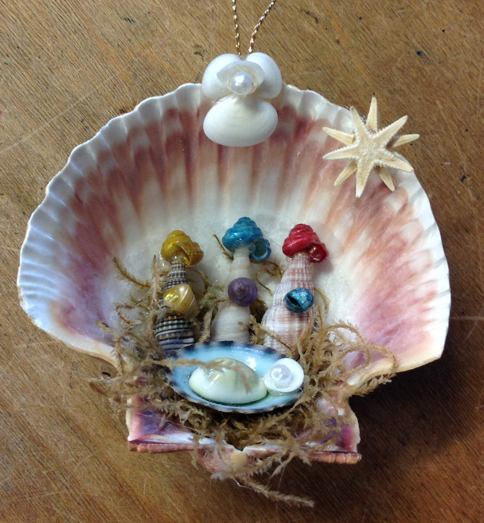 Three Wise Men Shell Ornament