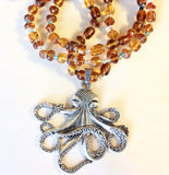 Octopus Pendant Beaded Necklaces