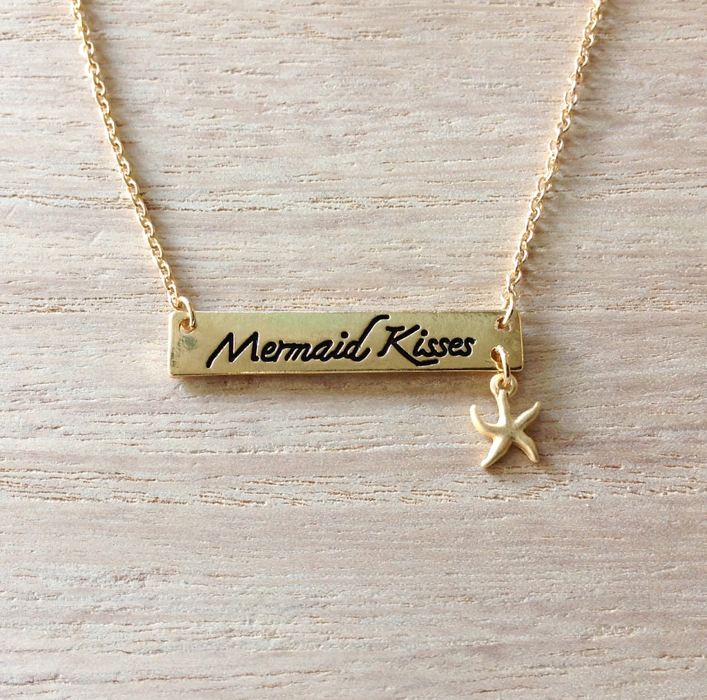 Mermaid Kisses Bar Necklace