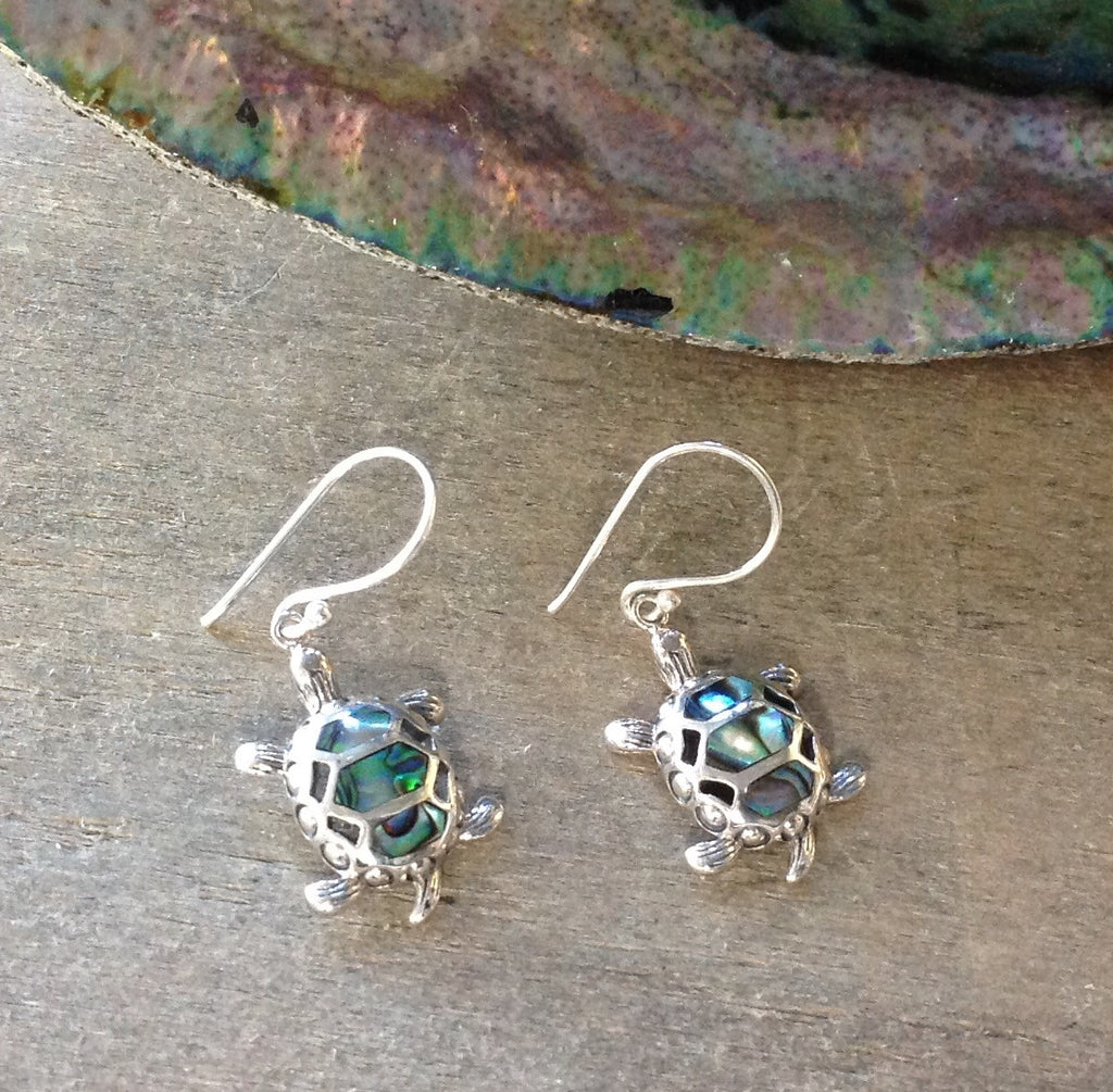 Turtle Abalone Earrings