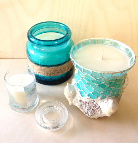 Paradise Island Mermaid Candle