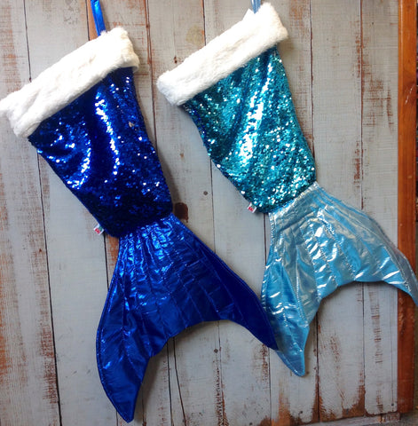 Mermaid Tail Christmas Stockings