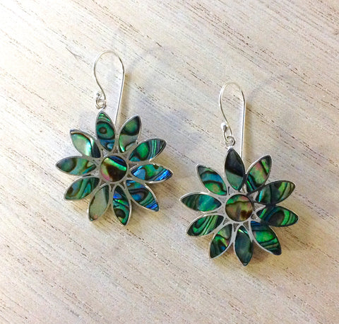 Abalone Daisy Earrings
