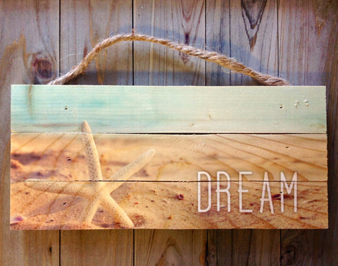 Dream Starfish Rope Sign