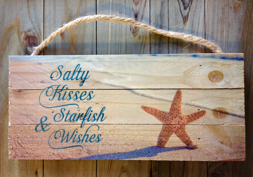 Salty Kisses Starfish Rope Sign