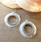 MOP Hoop Earrings