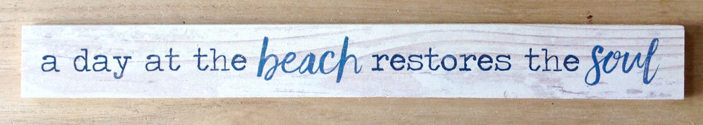 Day at the Beach Ruler Sign