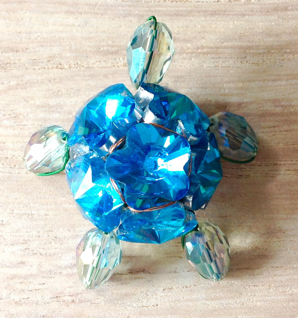 Jeweled Sea Turtle Figurine