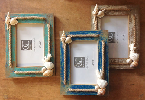 Seashell Rope Photo Frame