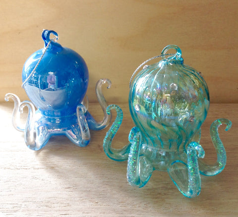 Blue Octopus Ornament