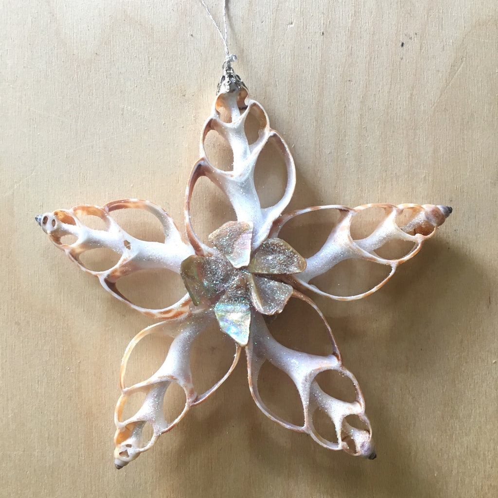 Abalone Flower Star Ornament