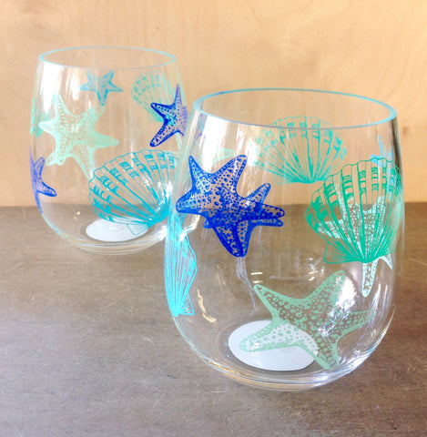 Coastal Tide Stemless Glass