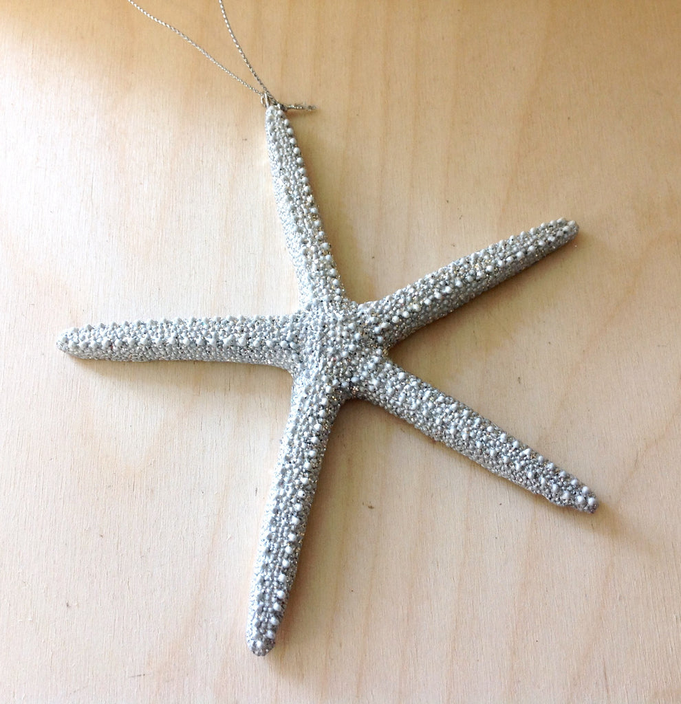 Silver Shimmer Starfish Ornament