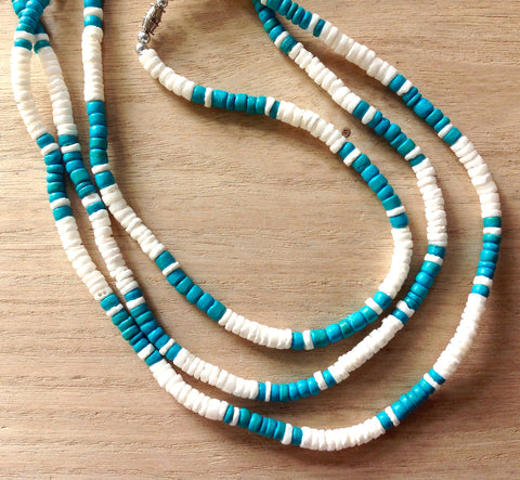 Coconut Bead Puka Necklace