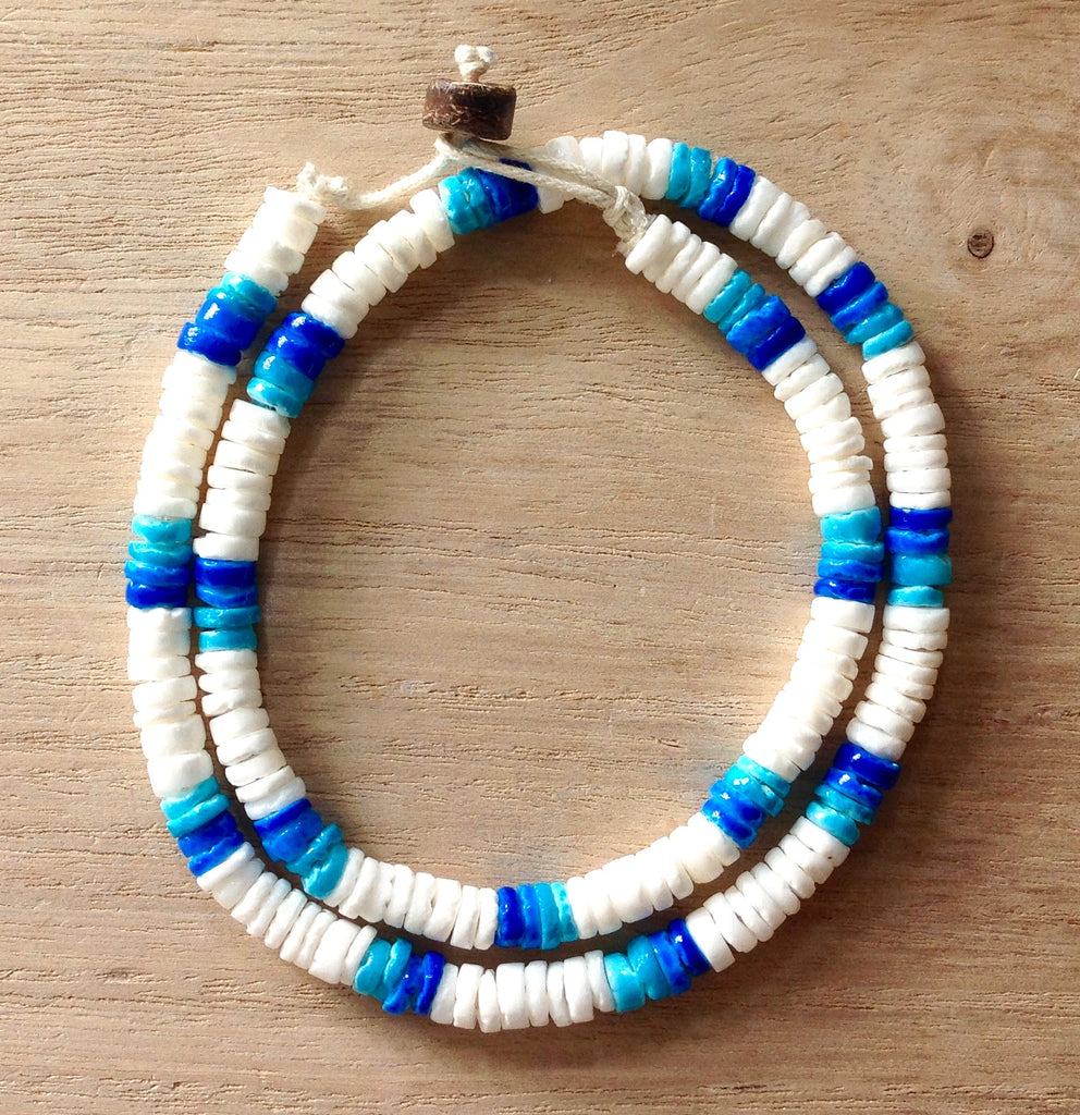 Colorful Puka Shell Necklaces