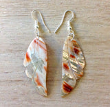 Red Abalone Themed Shape Earrings