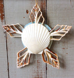 Blue Sand Dollar Star Ornament