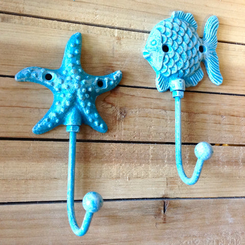 Blue Fish & Starfish Hook