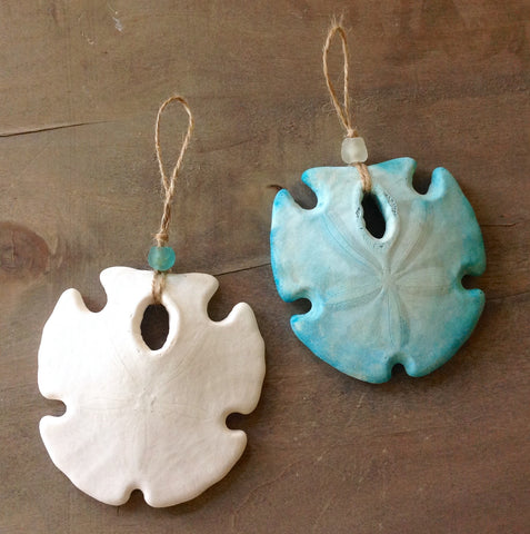 Seaglass Sand Dollar Ornament