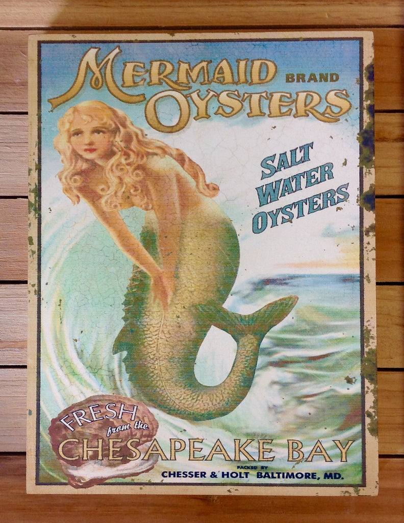 Mermaid Oysters Sign