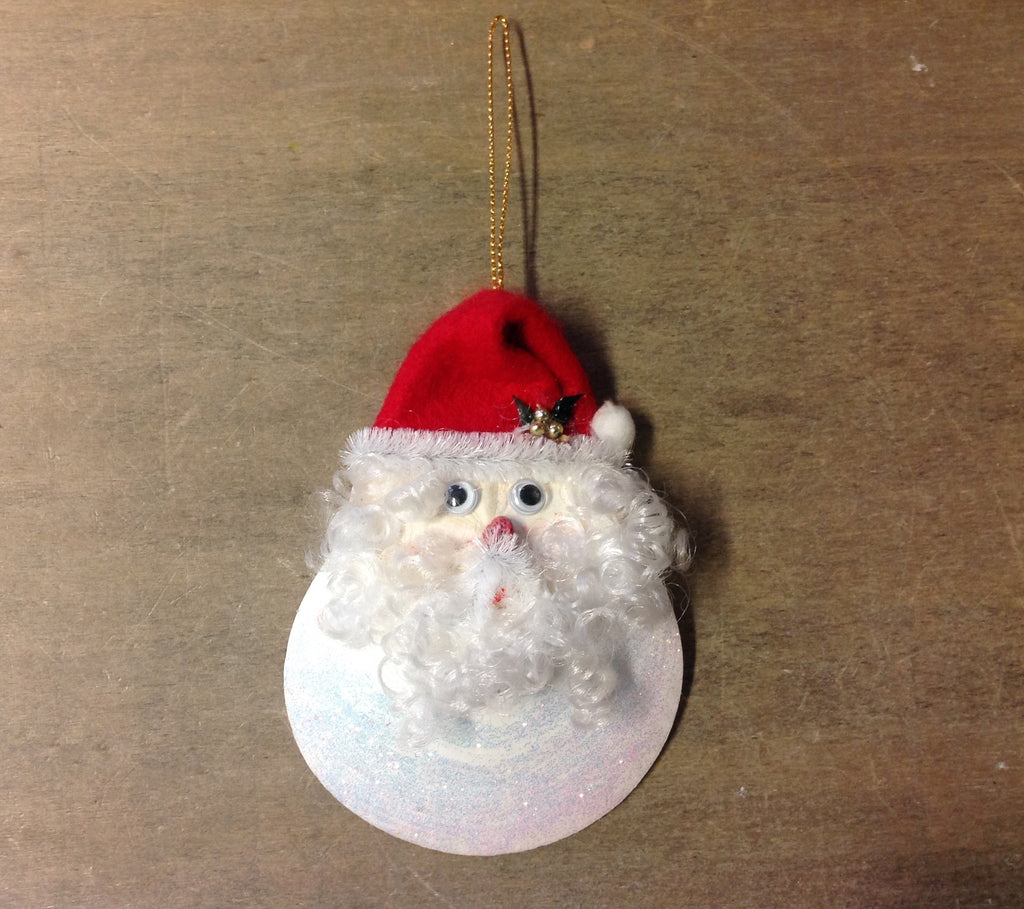 Moonshell Santa Ornament