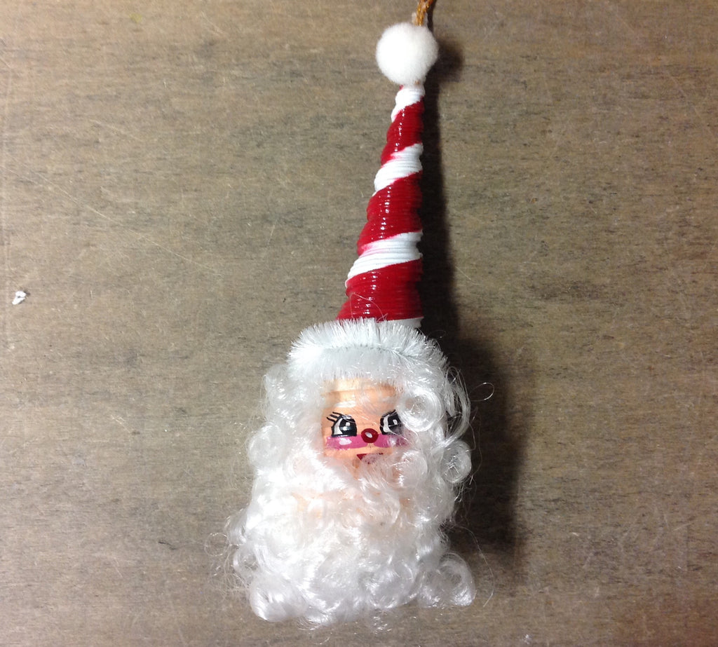 Santa Spindle Shell Ornament
