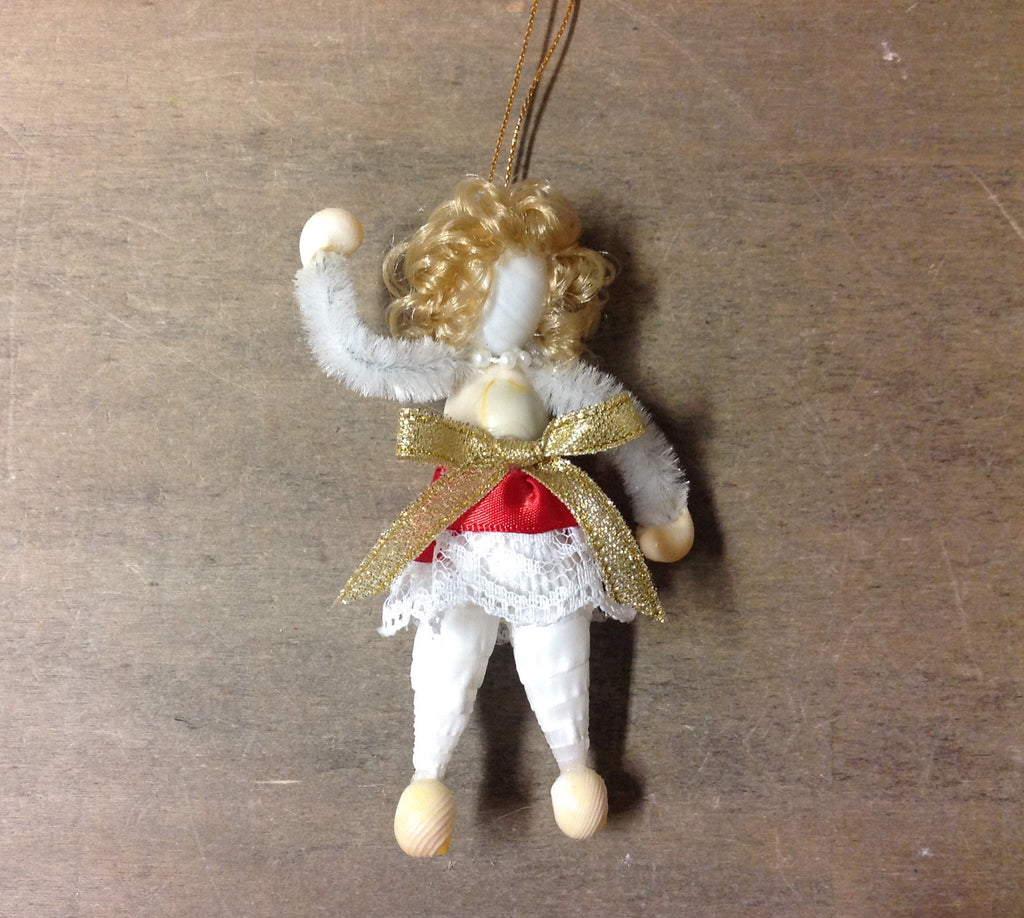 Shell Snow Maiden Ornament